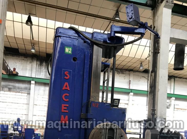 Madrinadora SACEM  visualizada de barron de Ø 130 con sus cabezales