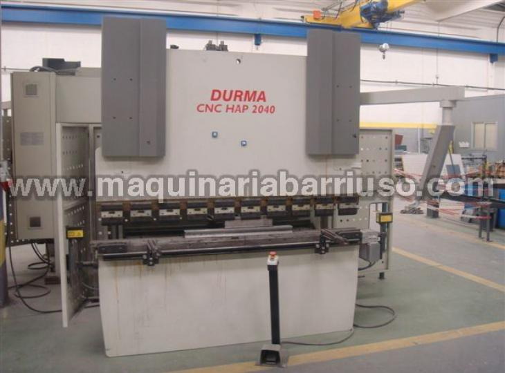 Plegadora DURMA CNC HAP2040 DE 2000 x 40 TM CNC 4 EJES