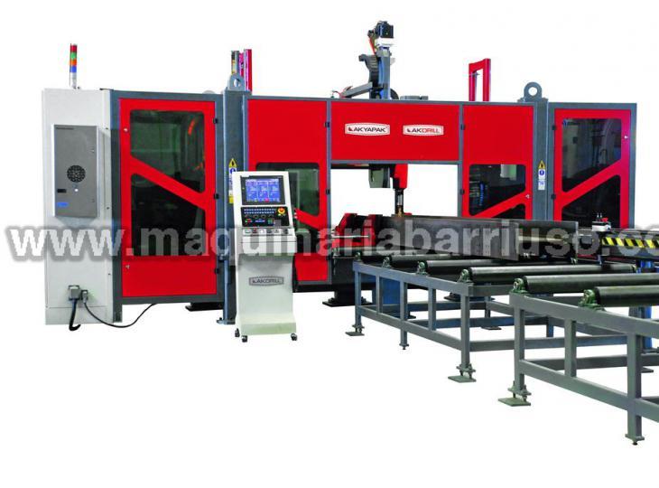 Linea de taladrado, marcado y corte de vigas CNC AKYAPAK 3 ADM 1200